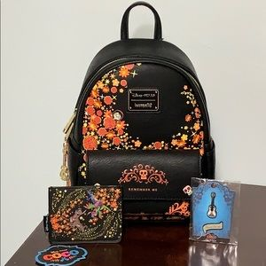 DISNEY LOUNGEFLY Coco Remember Me BACKPACK SET!
